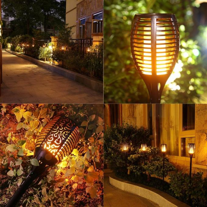 Dancing Balight LED Flame Solar Torch Wireless Flickering Torches Lantern Outdoor For Garden Patio Yard