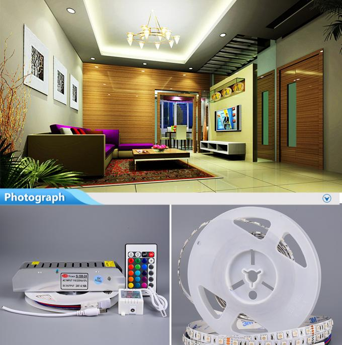 4000k Led Strip 5050 RGB Outdoor Led Strip Lights Waterproof With IP66 Silicone Tube