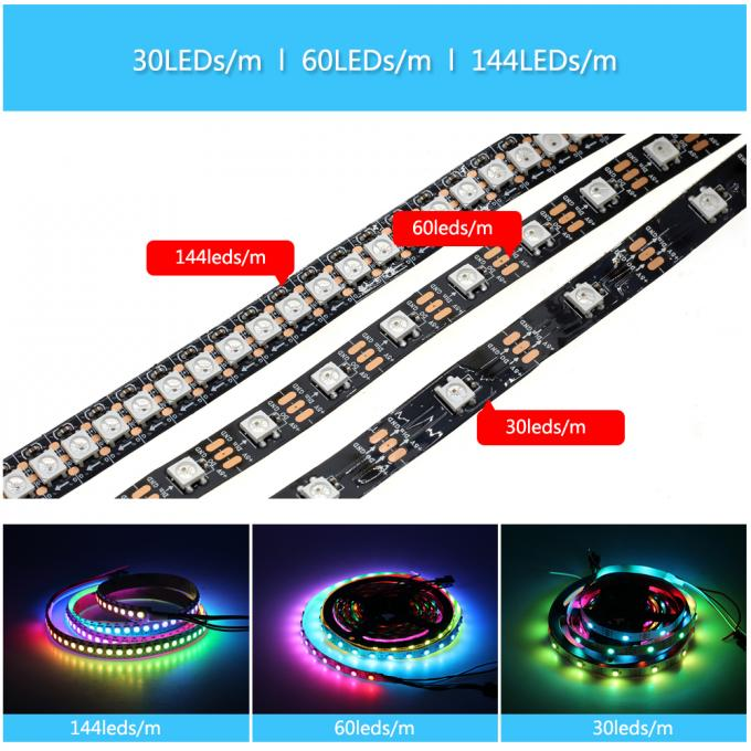 Ws2812b 5050 Rgb Led Strip 5M 150 300 Leds 144 60LED/M
