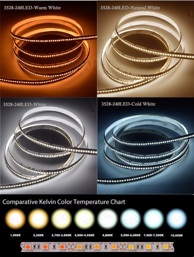 Custom 5M 3528 SMD Flexible 12 volt led rope lights for Cars Signs