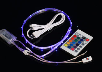 China USB 3.7V Rechargeable Waterproof Led Strip Lights With Remote Control supplier