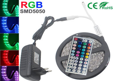 China 5050 Rgb Ip20 LED Strip Light Kit 300 Led Tape Light 44 Key Remote 12v 6a Power Supply supplier