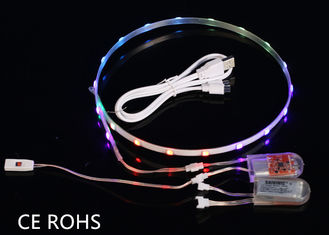 China Waterproof 1Pair LED Light Strips For Shoes USB Charging Rechargeable Battery 3V supplier