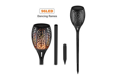China Outdoor Solar Led Tiki Torch Lights With Realistic Dancing Flame supplier