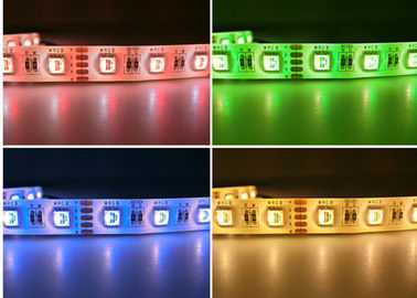 China Non Waterproof 12V DC Rgb Rope Light 5050 / OEM ODM Rgb Led Strip Kit supplier