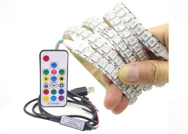 China Waterproof Usb Rgb Led Light Strip Flexible WS2812 IC With RF 17 Key supplier