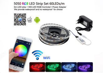 China WiFi Control Smd 5050 Rgb Led Strip Light Home Neon Light With Mini RGB Controller supplier