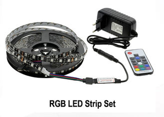 China RGB LED Strip Light Kit 5050 DC12V 5m 300 LEDs Fleixble 17Keys RF Controller supplier