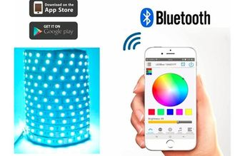 China Smart RGB 300LED 5050 Bluetooth LED Strip App Controlled For IPhone Android supplier