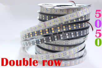 China 5m / Reel Double Row 24 Volt Rgb Led Strip Warm White Led Flexible Tape Light supplier