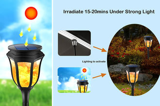 China Solar Lamp 96 LEDs Waterproof Garden Outdoor Lamp Led flickering Solar Flame Light Decor Warm White supplier