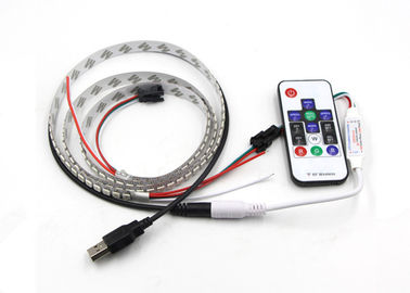 Programmable Individual Addressable Ws2812b Led Strip Built In 5050 RGB + RF Remote Control