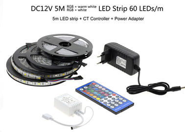5050 RGBW / RGBWW 5M 300LEDs LED Strip Light Kit Epistar LED Chip