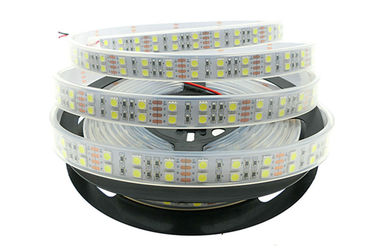 China IP67 Waterproof 12v Led Strip Lights 5050 120 LEDs/m Silicone Tube factory
