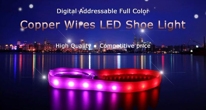 Full Color Rechargeable LED Light Strips For Shoes , Colored Led Light Strips