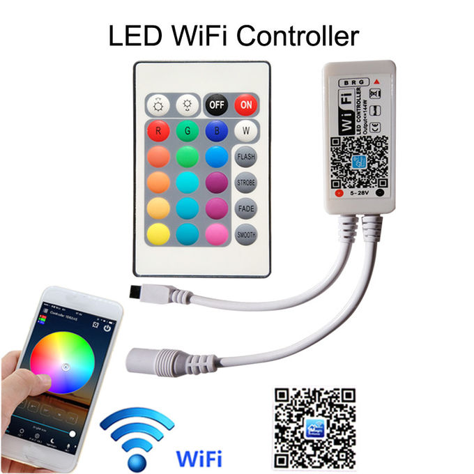 15m Non Waterproof +Wifi Rgb 5050 Smd Led Strip With 12V Power