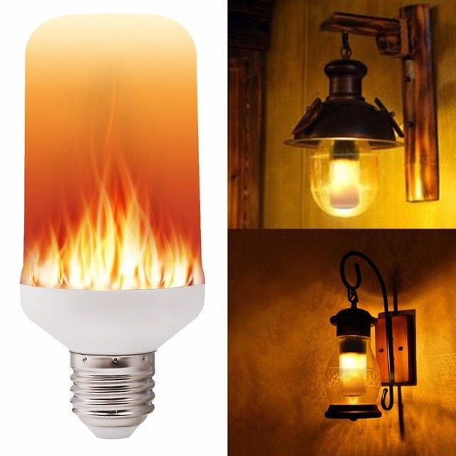 SMD 2835 LED Flame Light Bulbs E27 E26 7W Creative Lights Flickering Emulation Vintage Atmosphere
